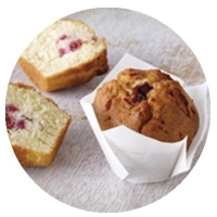 Pear and Raspberry Muffins (6/TRAY) - Click for more info