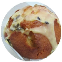 WRAPPED Passionfruit Muffins (6/TRAY) - Click for more info