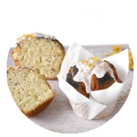 WRAPPED Orange and Poppyseed Muffins (6/TRAY) - Click for more info