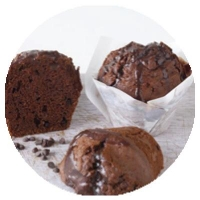 WRAPPED Double Choc Muffins (6/TRAY) - Click for more info