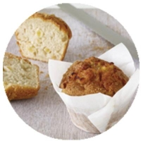 WRAPPED Raspberry White Choc Muffin (6/TRAY) - Click for more info