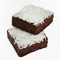 Gluten Free Paleo Raw Coconut Lamington 15pc - Click for more info